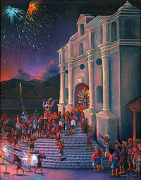 Procesion de Santo Tomas by Pedro Rafael Gonzalez Chavajay, 1996